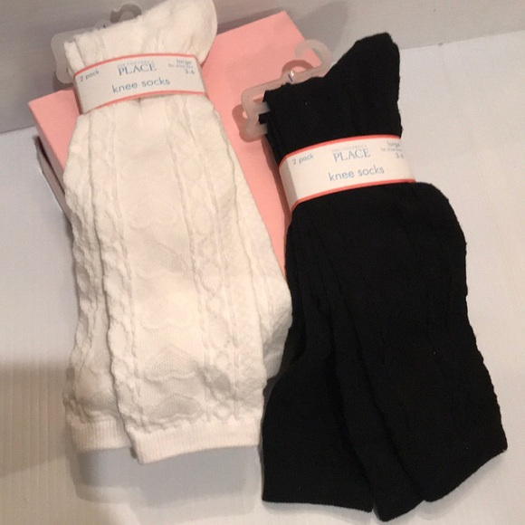 Children/'s Place Toddler Girls Black Tights Sz 3-4T NWT 2 pairs